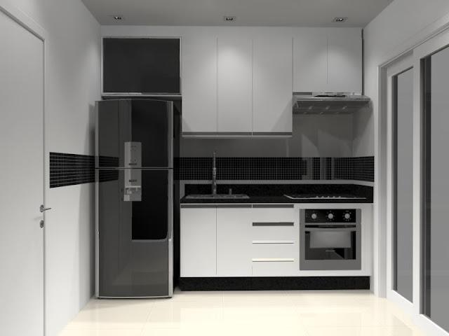 de Interiores Sugestão de Layout para cozinha apto até 54m2