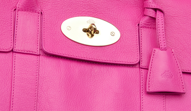 mulberry, pink handbag, luxury handbag