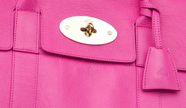 mulberry, pink handbag, luxury handbag
