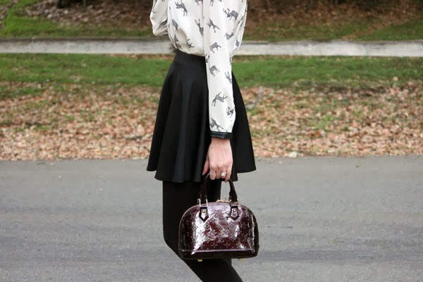 Printed blouse & skater skirt
