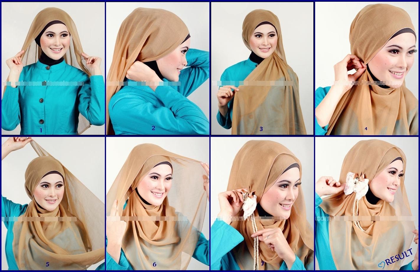 30 Galery Tutorial Hijab Paris Ria Miranda Terbaru Tutorial