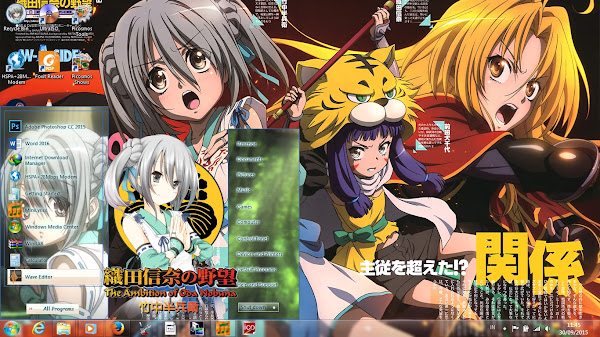 [Theme Win 7] Oda Nobuna no Yabou – Takenaka Hanbei by Eldiaz7 1
