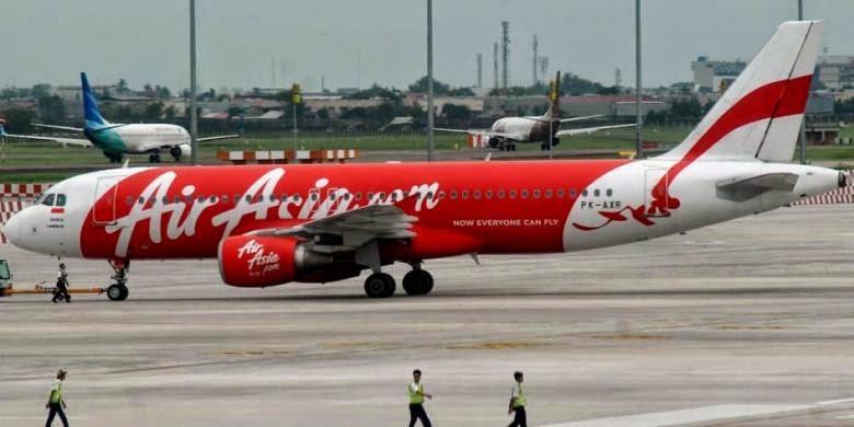 Pesawat AirAsia di Bandara Soekarno-Hatta