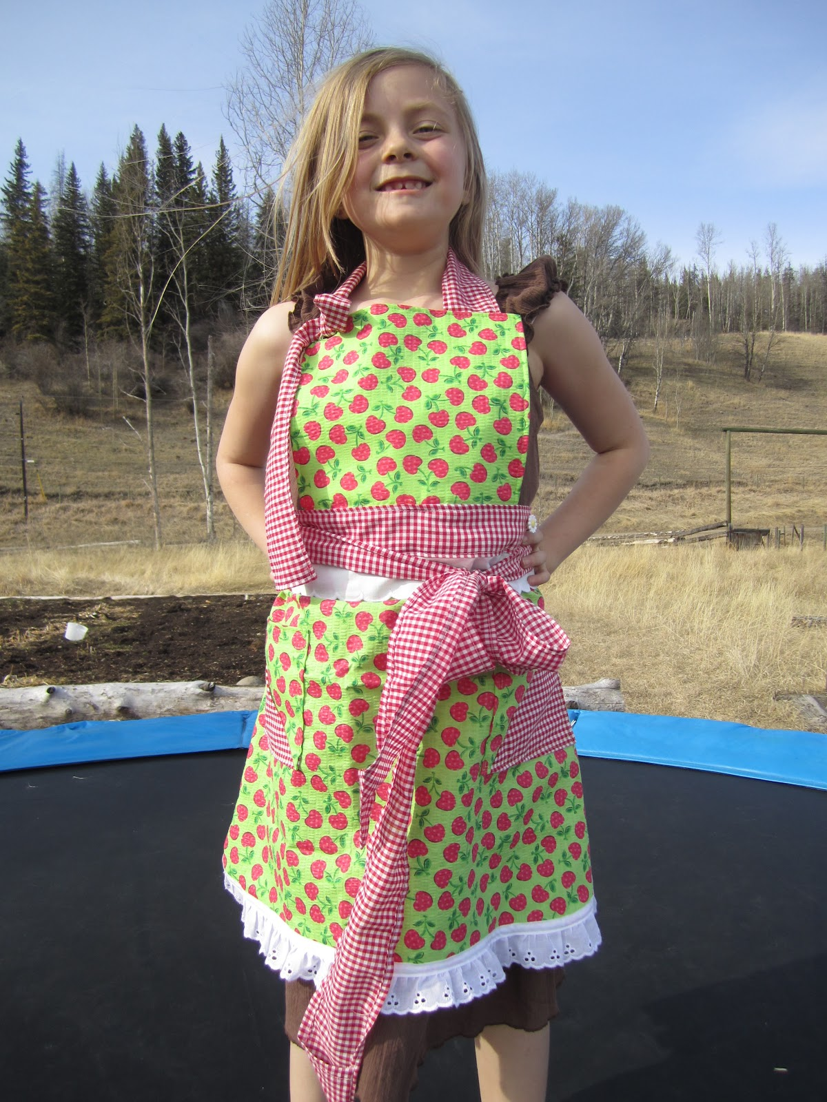 Gingham 'n' Cherry's Little Girls Apron