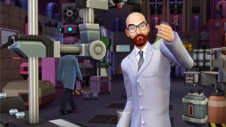 Imagen de la profesión científico del juego Los Sims 4 ¡A trabajar!