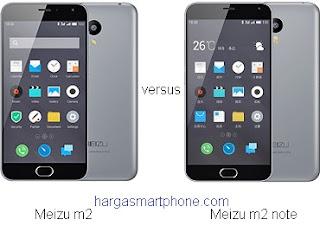 Harga dan Perbedaan Meizu m2 dengan m2 note