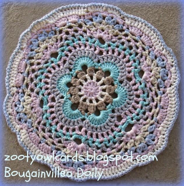 Crochet Owl Rug Pattern: Zooty Owl's Crafty Blog: Bougainvillea Doily Pattern