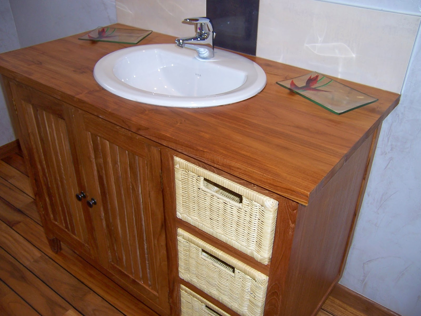 salle de bain taupe et chocolat chaios