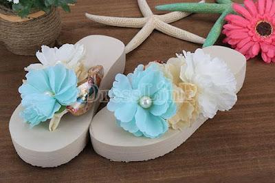 summer flower sandals