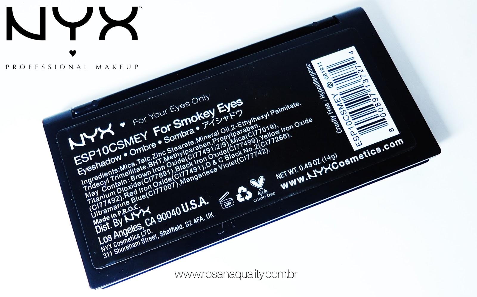 Paleta Smokey Nyx