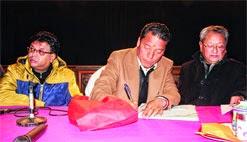 Roshan Giri, Bimal Gurung and Darjeeling municipality chairman Amar Singh Rai