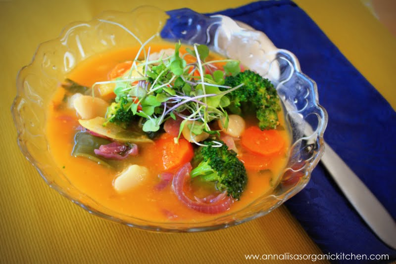 Healing Miso Vegetable Soup with Beans