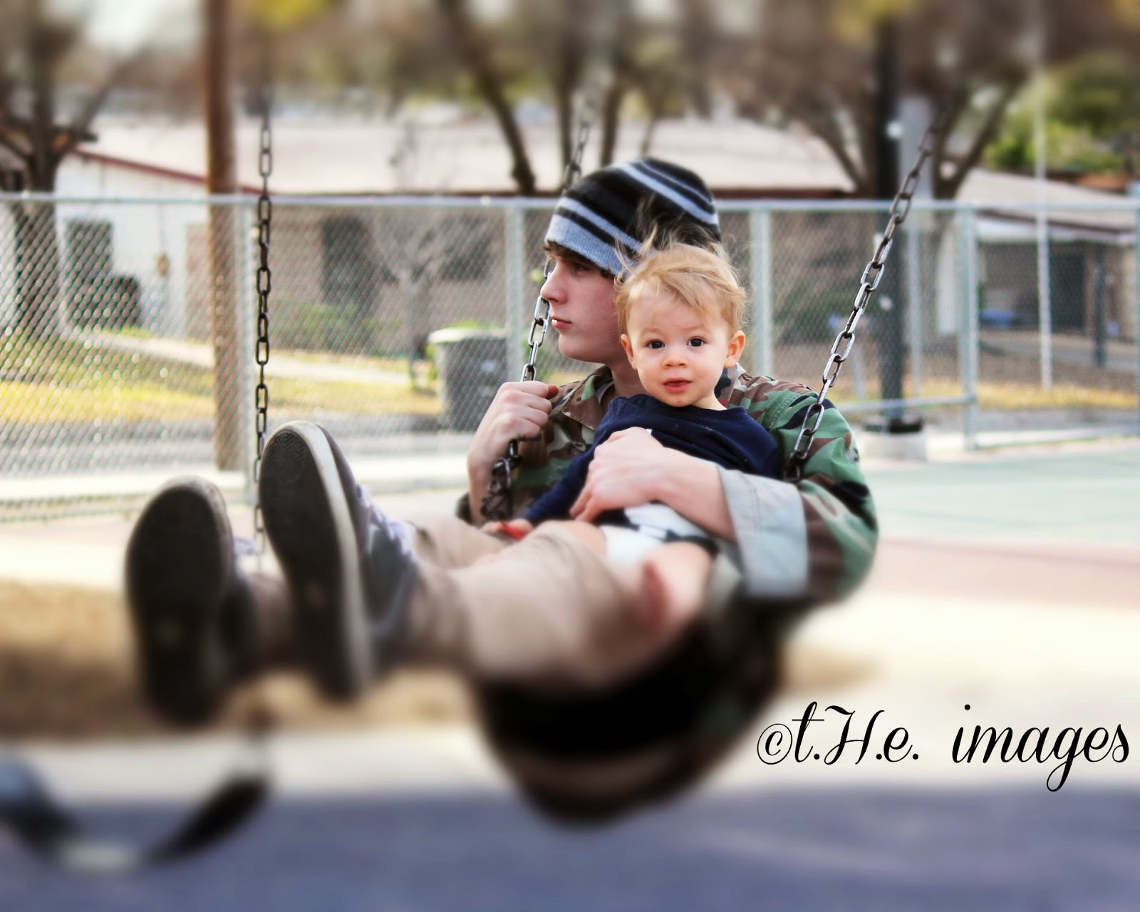 swinging uncle and nephew
