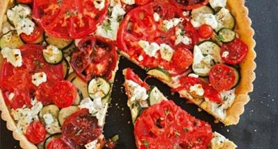 Tomato, Zucchini & Goat Cheese Tart