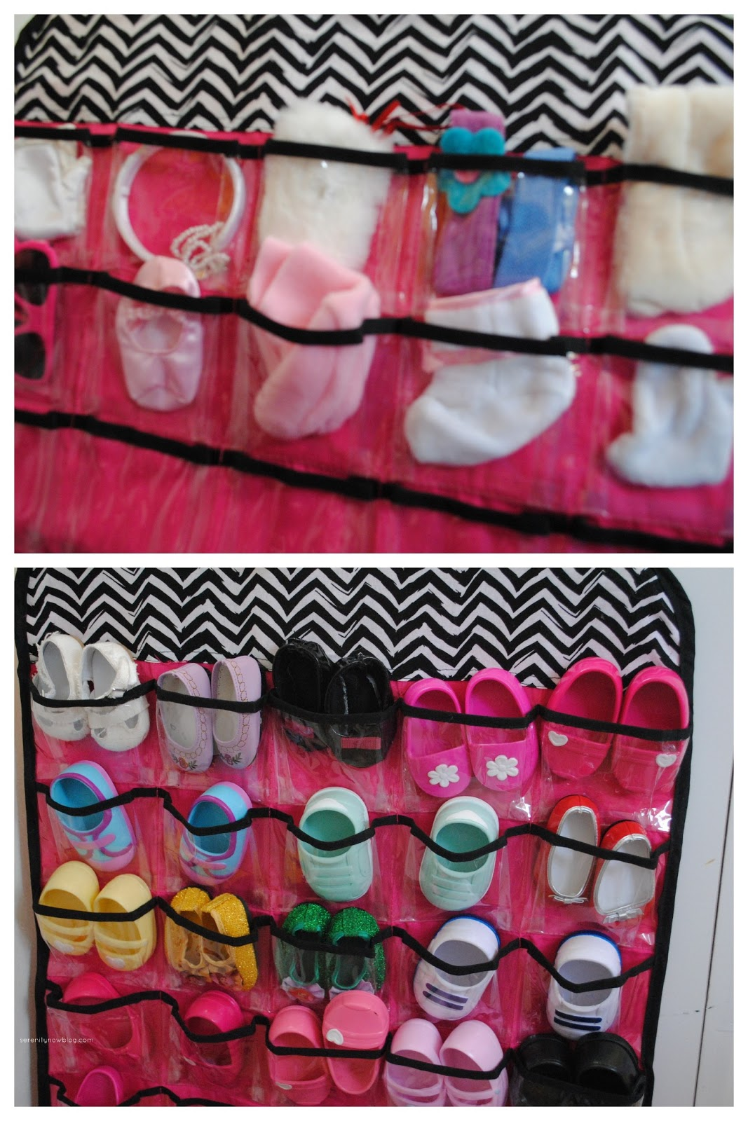 serenity now how to organize and store doll shoes and. Black Bedroom Furniture Sets. Home Design Ideas