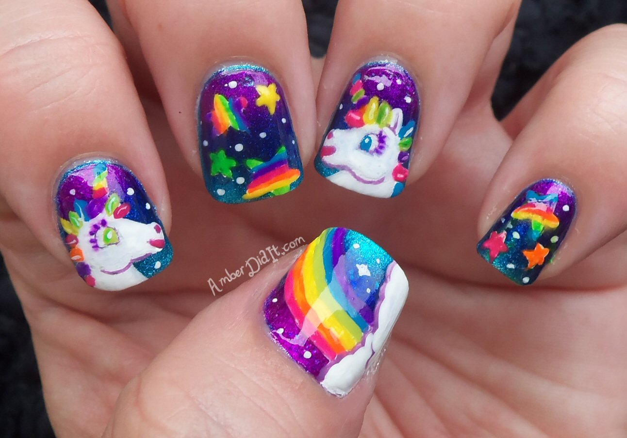 Amber did it!: Lisa Frank Nail Art