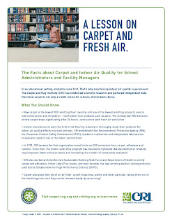 CRI Fact Sheet: Indoor Air Quality for School Administrators, Facility Managers
