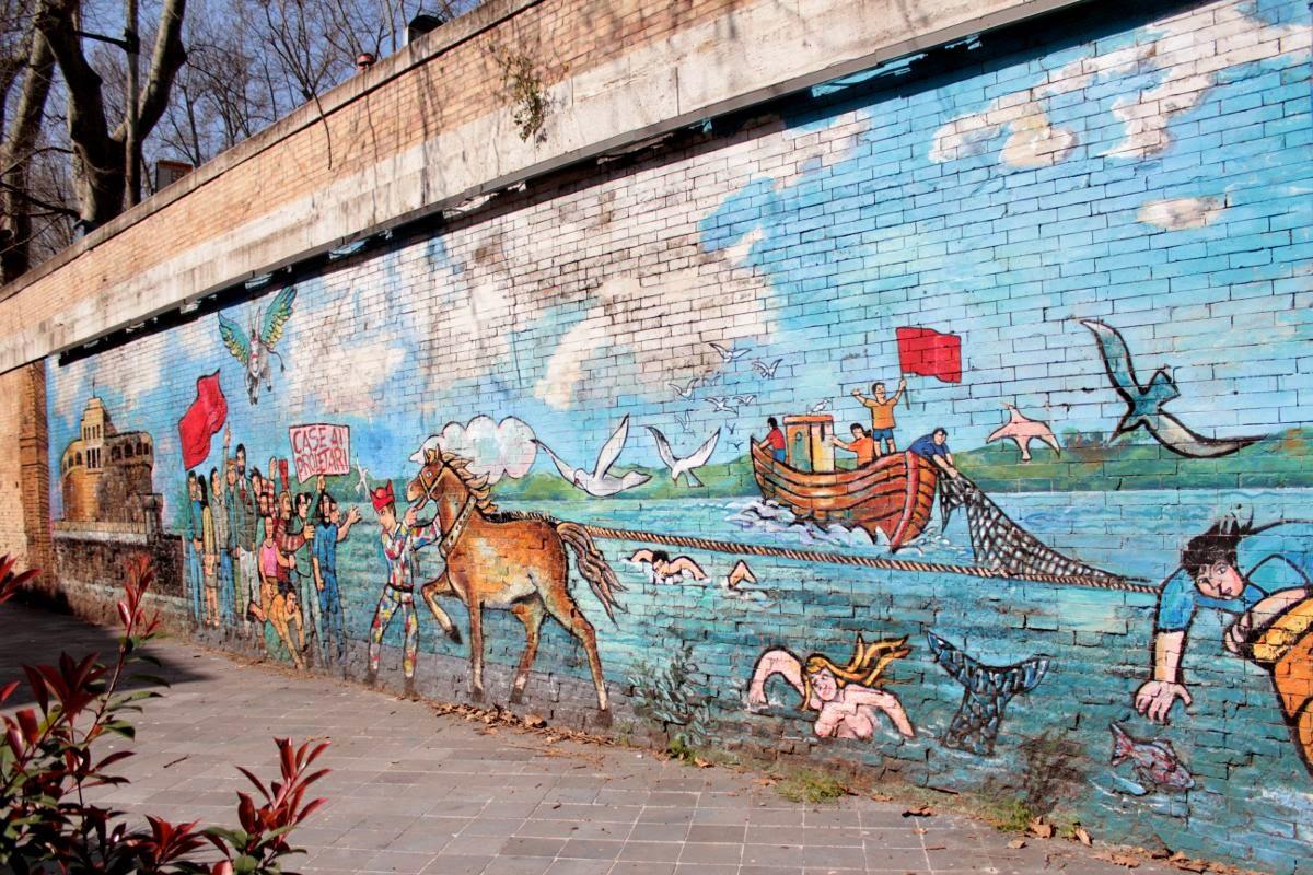 Un tratto del murales odierno