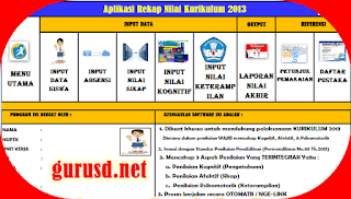 Aplikasi Rekap Nilai Kurikulum 2013 SD/SMP/SMA Dan SMK Tampilan Baru