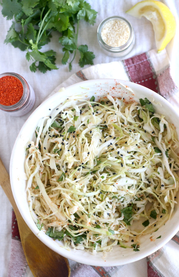 Asian Cabbage-Fennel Coleslaw recipe by SeasonWithSpice.com