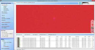 deep sky stacker comet screenshot
