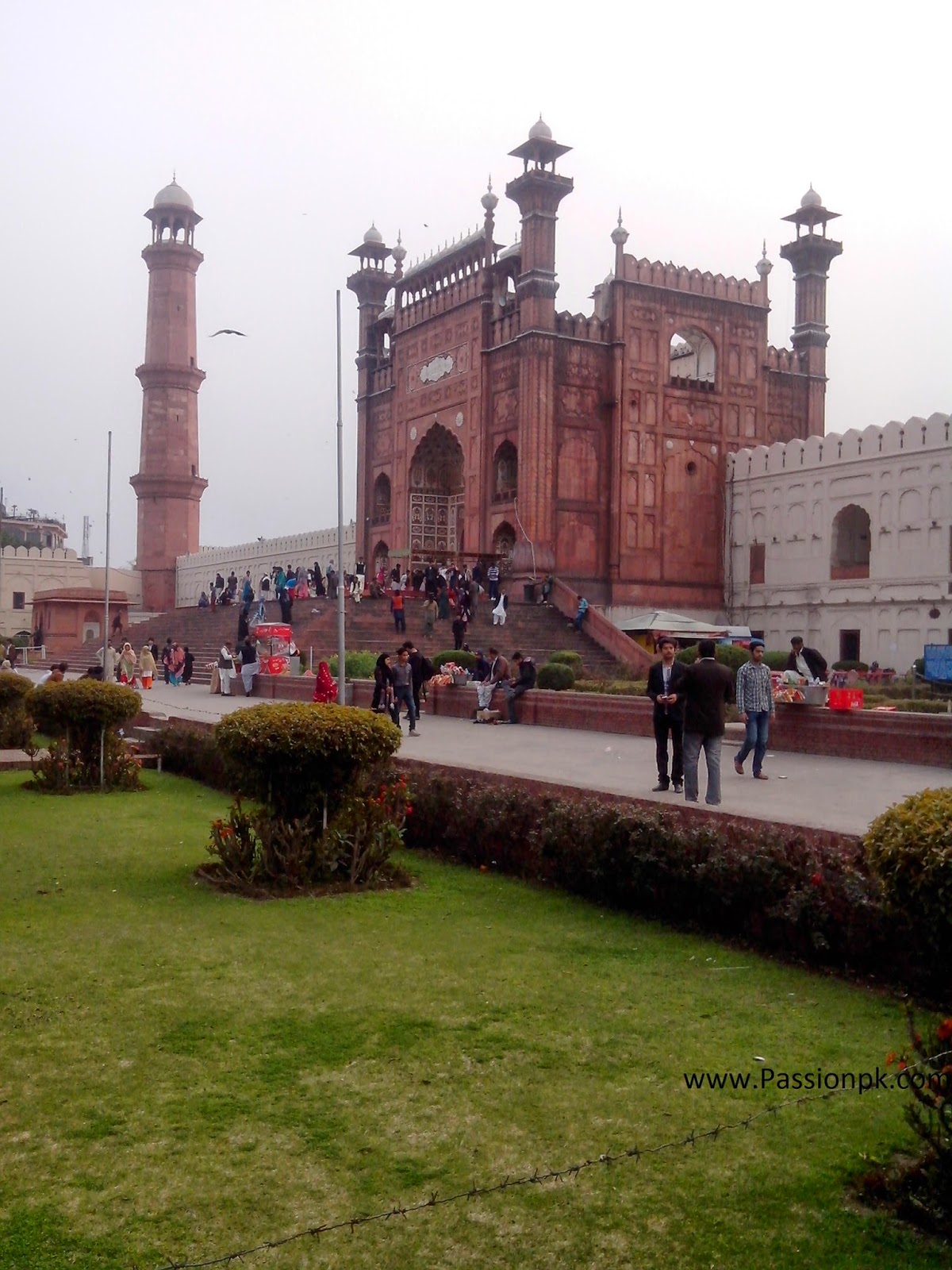 Badshahi Mosque Lahore Beautiful View Of Entrance