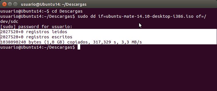 sudo dd if=ubuntu-mate