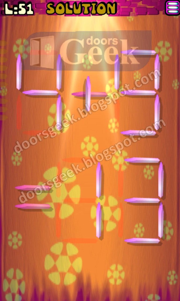 Matches puzzle episode 2 level 51 solution doors geek for 16 door puzzle solution