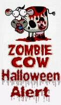 zombie cows halloween alert
