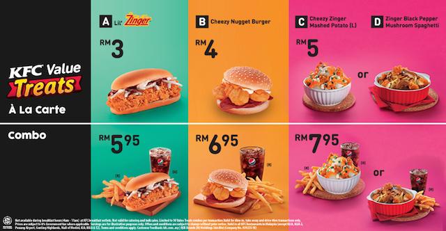Menu KFC Value Treats