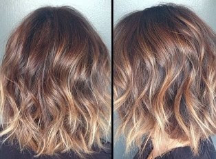 Layered Short Ombre Bob