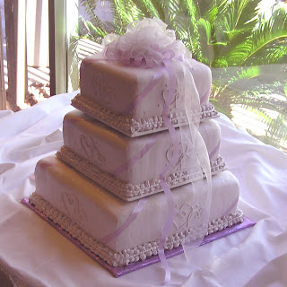 3 tier lavender wedding cake