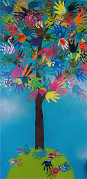 a hand tree - collaborative art