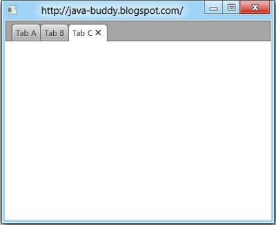 JavaFX 2.0: TabPane