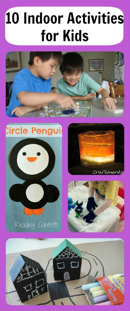 10 indoor activities for kids and mom 39 s library 29 true aim for Indoor crafts for kids