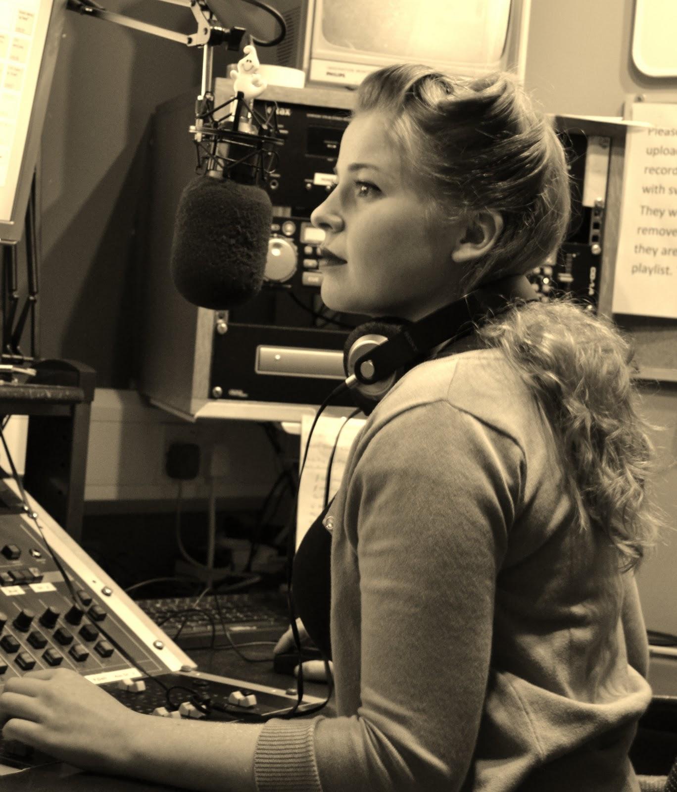 Vintage Radio Station Logo Her saturday show is her