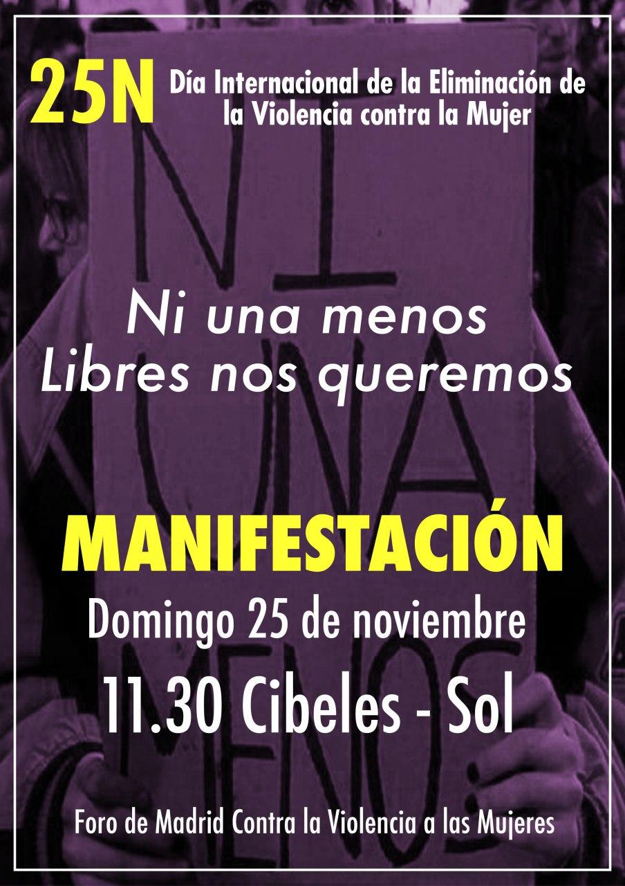 25 noviembre Ni Una Menos Ni Una Más