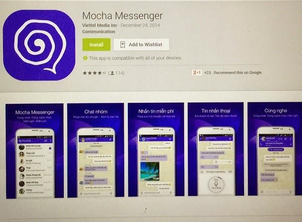 Viettel cũng thử nghiệm dịch vụ OTT với tên Mocha