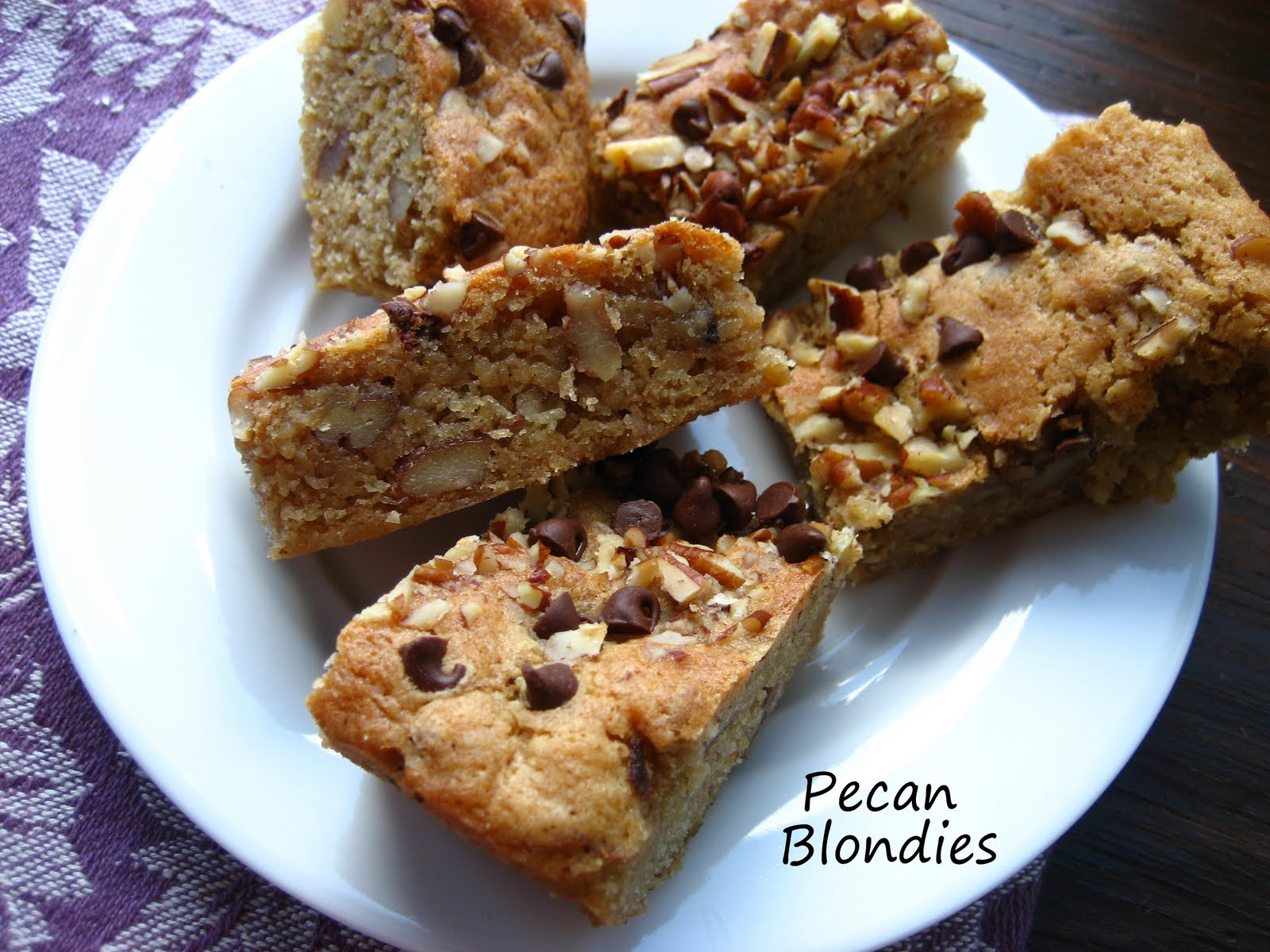 Pecan Blondies( with maple syrup sauce)...#6 in a series of desserts.