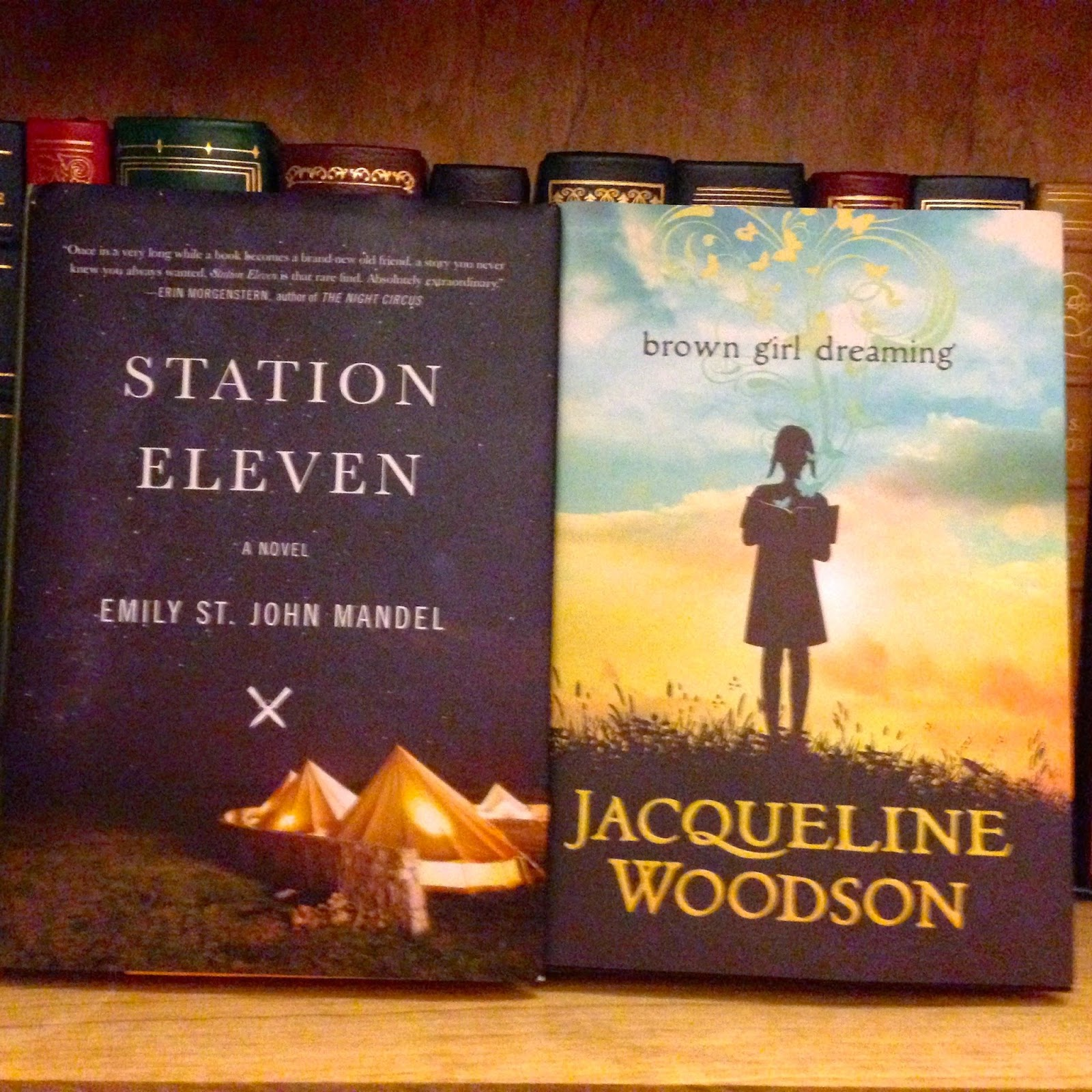 Two 2014 National Book Awardlonglisted Titles Here, Emily St John Mandel's  Station Eleven (alas, No Signed Copy, As I Missed Today's Session) And