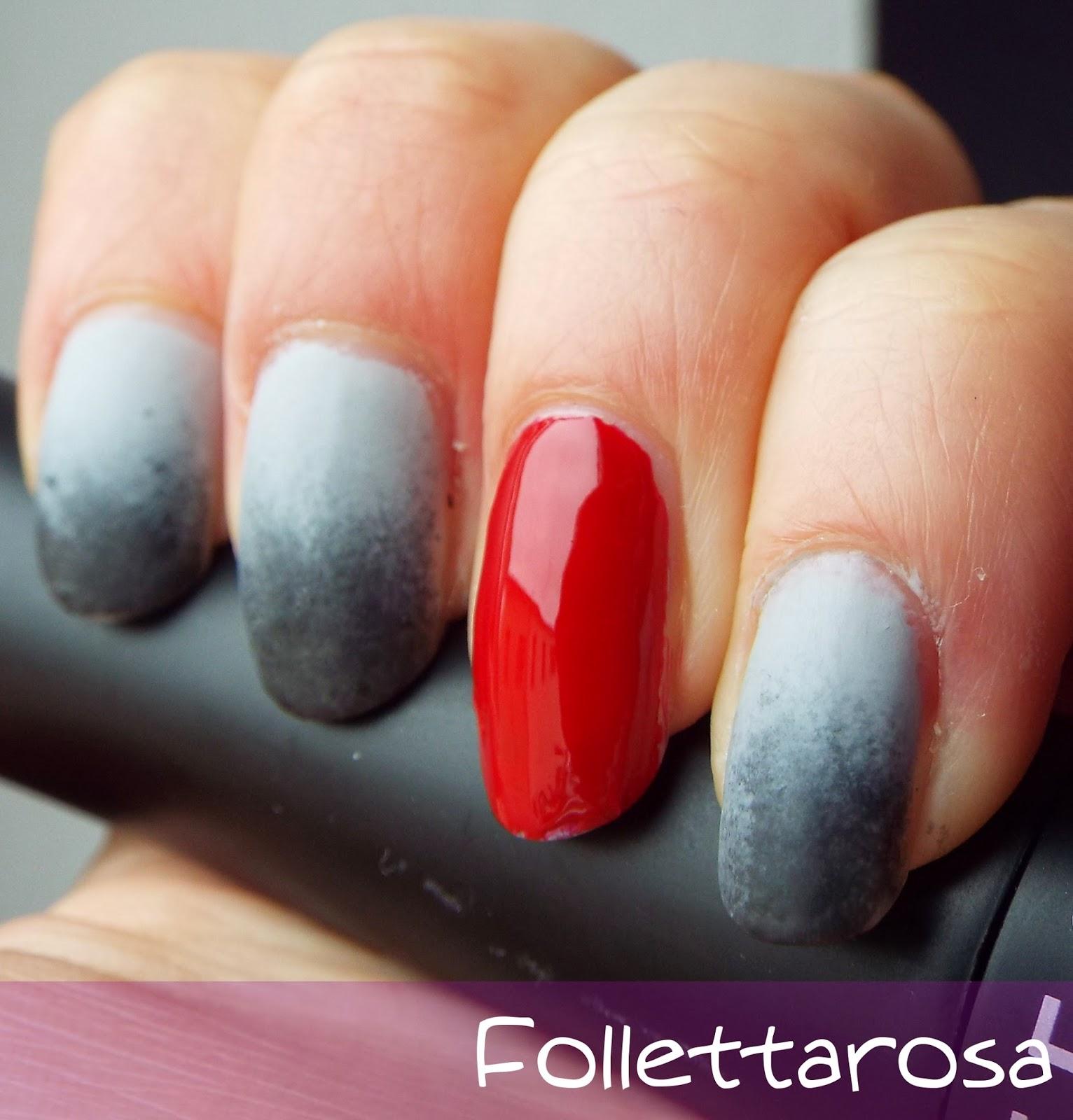 50 sfumature di grigio nail art facile
