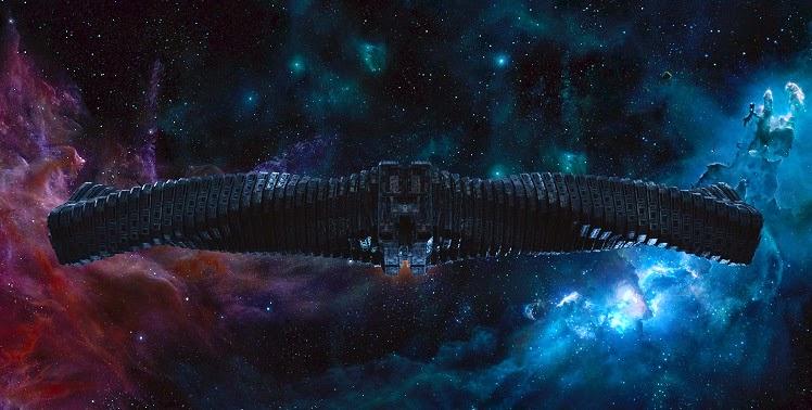 """Le """"Dark Aster"""" dans Les Gardiens de la galaxie (qui fera la joie des amateurs de Lego)"""