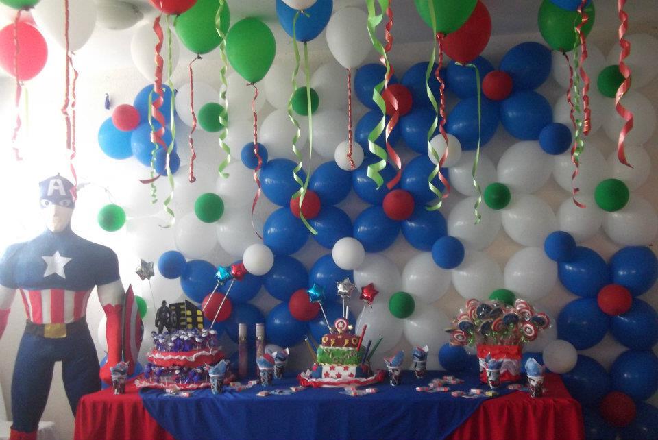 Decoraciones a tu gusto fiesta de los vengadores for Decoracion en bombas para cumpleanos