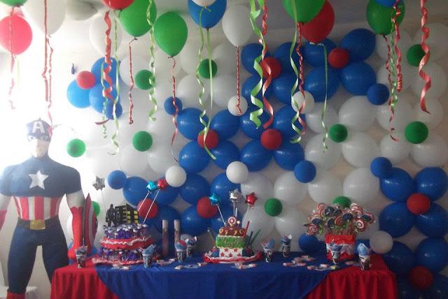 Decoraciones a tu gusto fiesta de los vengadores - Globos fiesta cumpleanos ...
