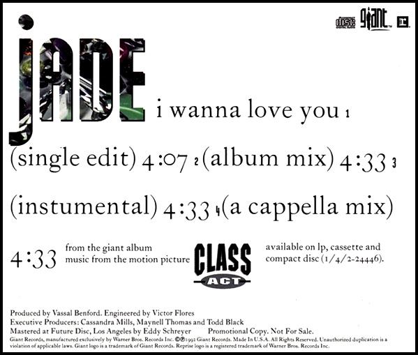 Jade – I Wanna Love You
