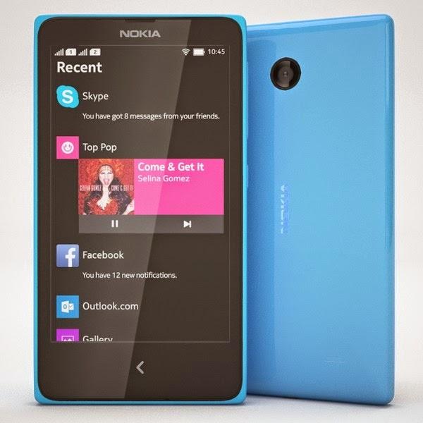 Ponsel Nokia X Blue