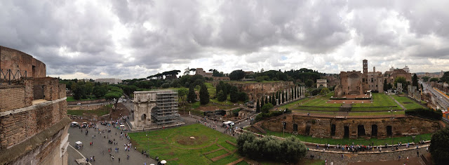 View across the Roman Forum from the Colosseum