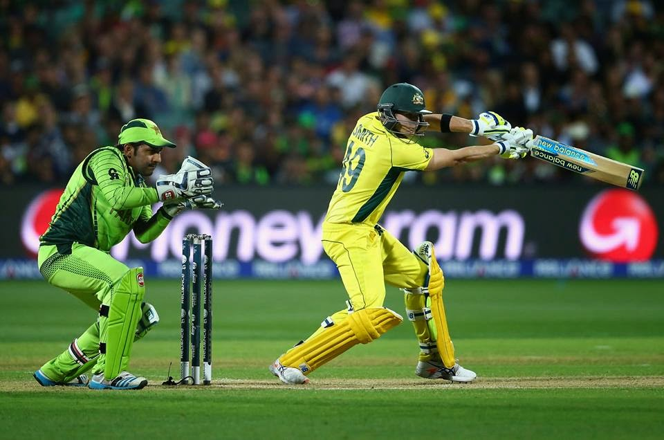 Australia won over Pakistan by 6 wickets,enters semi finals