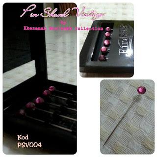 Pin Shawl Turki PSV004 Merah Ros
