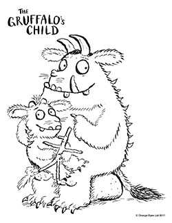 for even more fun you can print free grufflo coloring pages here - Gruffalo Colouring Pages To Print